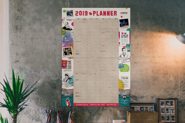 Sponsor our 2020 Wall Planner